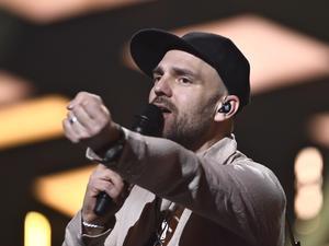 Stiko Per Larsson i Scandinavium i Göteborg under andra deltävlingen av Melodifestivalen i våras. Foto: Claudio Bresciani