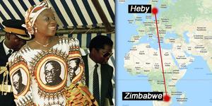 Sally Mugabes exil i Sverige blev flera år lång och hon hann bli vän med många under den tiden. Foto: AP och Google maps