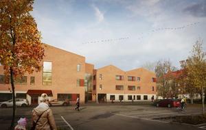 Illustration: Sala kommunSå här ska nya Vallaskolan se ut. Skolan kommer tas i bruk med start höstterminen 2020.