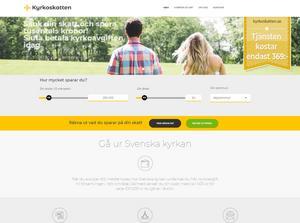 Skärmdump från kyrkoskatten.se:s hemsida.