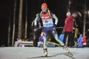 Valj Semerenko var ensam om att skjuta fullt. Ukrainskan slutade trea, 38 sekunder bakom Domracheva.