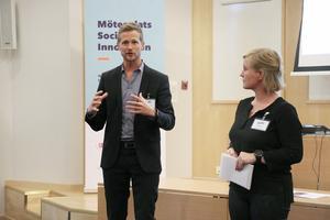 Danfos vd Jonas Olsson och projektledare Lisa Nilsson var initiativtagare till en workshop där 25 aktörer var med och diskuterade om hur man tillsammans kan skapa en hållbar och trygg stad för medborgarna i det offentliga rummet.