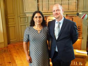I Björna kyrka vigdes Carolina från Linköping och Thomas Sondell från Björna för 20 år sedan.