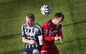 Johan Karlefjärd gjorde HFF:s enda mål i matchen mot Nässjö.