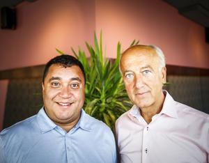 Kristdemokraterna David Winerdal och Robert Halef  presenterade partiets valmanifest under torsdagen.