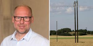 """""""Det svenska arbetet för att pressa ner elnätspriserna har mött på motstånd från flera håll"""", skriver  Anders Ygeman, (S) och Patrik Engström (S) (bilden).Foto: Pressbild Socialdemokraterna/TT/montage"""