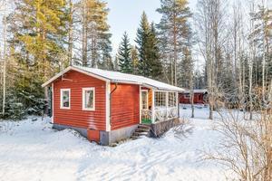 Fritidshus i Skattlösberg cirka 3,7 mil nordväst om Ludvika stad. Foto: Carina Heed