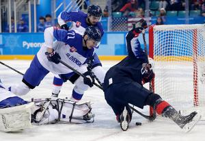 Marek Daloga, här i OS för Slovakien, är en back med bra tryck enligt Anders Forsberg. Foto: AP Photo/Julio Cortez
