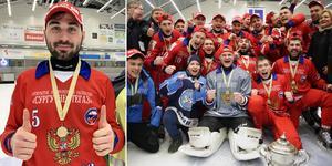Alan Dzhusoev och Ryssland försvarade VM-guldet. Bild: Christoffer Million / Adam Ihse (TT)