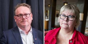 Staffan Jansson (S), kommunstyrelsens ordförande. Ann-Louise Molin Östling (S), ordförande i individ- och familjenämnden.