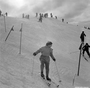 Slalombacken, Ånnaboda, Kilsbergen,1958. Foto: Erik Arlebo