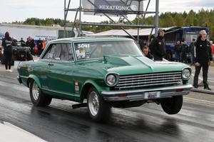Alexander Burefjord, Hudiksvall,  testade sin Chevrolet Nova.