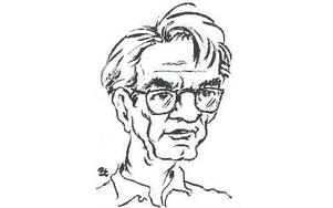 Birger Erikssons tecknade bild av Lennart Svensson. Foto: Dala-Demokraten/Arkiv