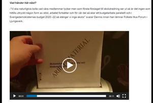Sverigedemokraterna Ånge har förutom en klargörande text också lagt ut ett filmklipp som förkunnar vart de står i skolfrågan.