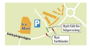 Så här tänker kommunen lösa trafikproblemen runt Ica Maxi Universitetet.