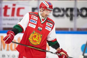 Från SHL-spel i våras till en kamp för att undvika negativt kval i Hockeyallsvenskan i höst. Tomas Skogs är väl medveten om ishockeylivets förgänglighet. Foto: Daniel Eriksson/Bildbyrån