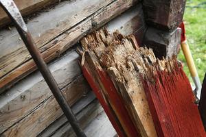 Foto: Heiko Junge/TTDen rivna timmerbyggnaden var klädd med träpanel och enligt fastighetsägaren hade timmerstommen omfattande fuktskador.(Bilden har inget samband med artikeln)