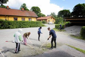 Arkivbild: Sommarjobbare på Sandvikenhus.