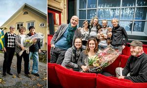 """Biblioteksupproret i Ramsberg och Örebro länsteaters uppsättning """"Det som är vårt"""", strax efter beskedet att de tilldelats NA:s kulturpris 2017."""