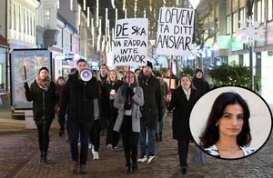 """""""Ni bör ha extra försiktighet och kanske inte gå ensamma utan tänka er för"""". Orden, riktade till Malmös kvinnor, kommer från polisens förundersökningsledare som utreder tre grova gruppvåldtäkter under den senaste månaden"""