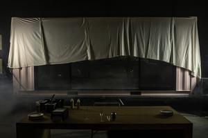 Avtäckning av P-za:s nya food-trailer till musik och rökmaskiner. Foto: Bengt Pettersson