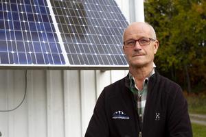 Mats Andersson förespråkade redan tidigt på 80-talet fördelarna med solceller.