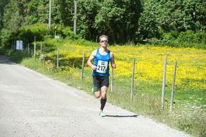 Magnus Näslund från Vattudalens LDK, några kilometer innan Liden.
