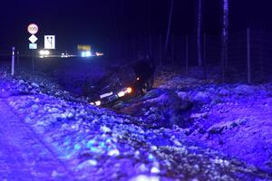 En person var inblandad i olyckan, men klarade sig efter omständigheterna bra.
