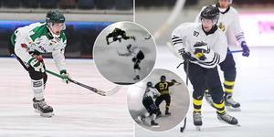 Anton Lööf i Frillesås och Christian Frohm i AIK utreds efter tacklingarna i gårdagens match. Bild: Jonna Igeland / Andreas Tagg / Bandyplay