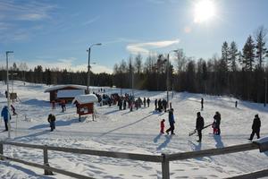 Perfekt skidväder under skidans dag på Alnö under söndagen.