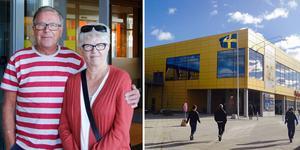Kalervo och Karin Laitalainen från Ö-vik brukar stanna till och äta frukostbuffé på Ikea i Sundsvall när de åker söderut.