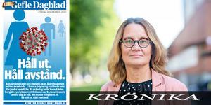 Katarina Ekspong, chefredaktör - och dagens tidningslöp