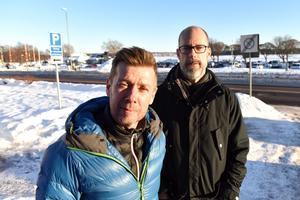 Christer Persson och Michael Rocking berättade om deras planer att starta en friskola i Mora.