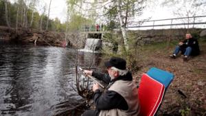 Bo Bergqvist, Surahammar, är långliggare på campingen och har återkommit till premiärfisket i Riddarhyttan i drygt tio år.