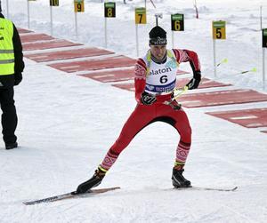 Christoffer Eriksson tog SM-silver i skidsytte.