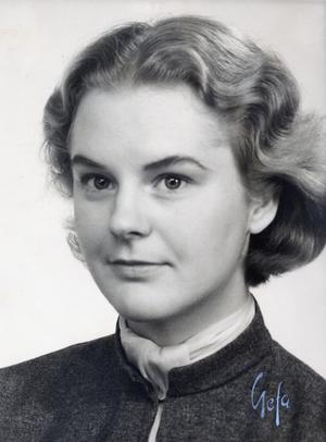 Min farmor Inga Jersenius i 20 års åldern omkring 1950. Foto: Privat