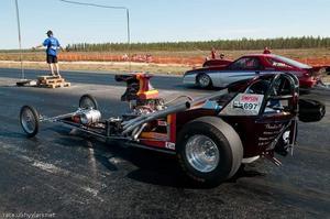 Frontmotordragstern som Kent Norberg köpte kördes tidigare i USA.
