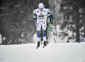 Axel Ekström tvingades kasta in handduken på grund av halsont och kom inte till start i världscuptävlingen i italienska Cogne. Då blev bäste svensk 39:a. Arkivfoto: Björn Larsson Rosvall/TT