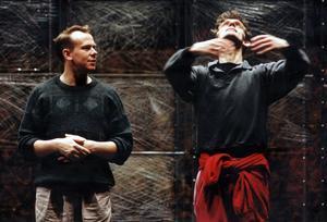 Koreografen och dansaren Per Jansson till vänster, under en repetition med Cullbergsbaletten. Foto: Dan Hansson/FLT-PICA/Arkivbild