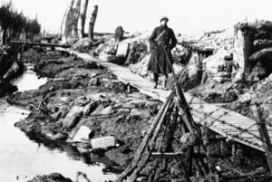 Ypres i Belgien, där Haber själv övervakade de första gasangreppen. Foto AP