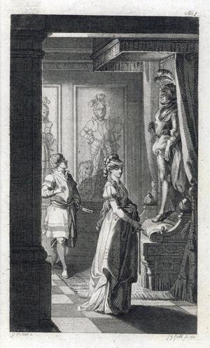Johann Willhelm Meils illustration till den tyska upplagan av den första skräckromanen