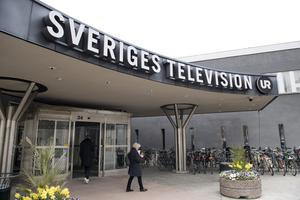 Exteriör på Sveriges Television, SVT och Utbildningsradion, UR. Foto: Jessica Gow / TT.