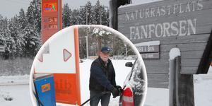 Nu är det äntligen fritt fram att tanka vid nya automatstationen vid Fänforsen i Björbo.