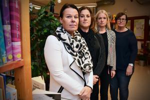 Malin Sahlén, Pia Hörnkvist, Cathrine Lindberg och Maud Hållberg är lärare på Ängetskolan.