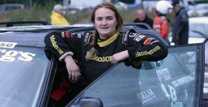Natalie Ylander, Nordjämten, strax innan start. Hon har inte kört så mycket i år eftersom hon blev mamma i maj.
