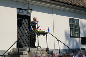 Thomas Ahlin, ordförande för Sala hembygds-och fornminnesförening.
