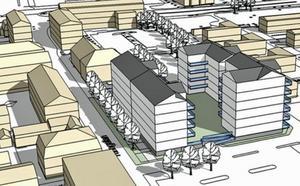 Riksbyggen bygger 76 lägenheter på Maximparkeringen. Illustration: Mondo Arkitekter.