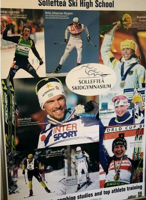 Världsstjärnor, både inom längd- och skidskytte, har fått sin utbildning på gymnasiet i Sollefteå.  Foto: Jonny Dahlgren/arkiv
