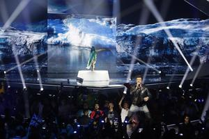 Sebastian Rejman från Finland under semifinalen i Tel Aviv.
