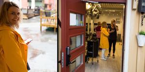 På torsdagsmorgonen fick frisörsalongen Hårcompaniet i Östersund påhälsning av ösregnet.